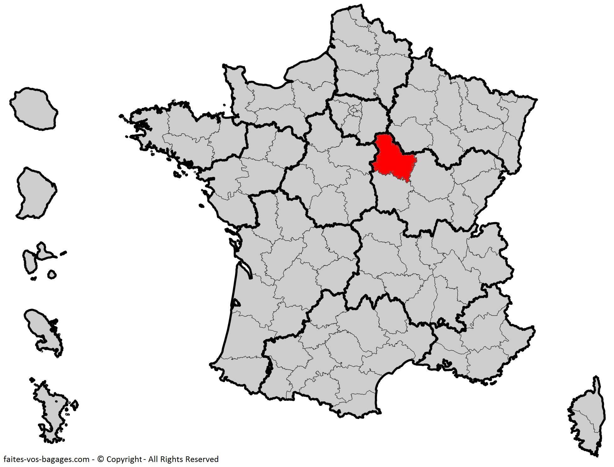 Où se trouve l'Yonne ? Département 89