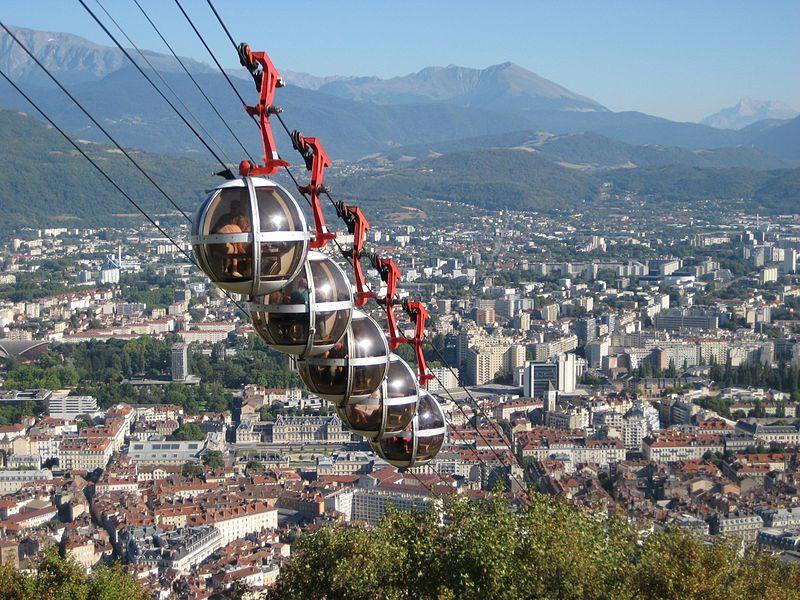 Visiter Grenoble - Téléphérique de la Bastille