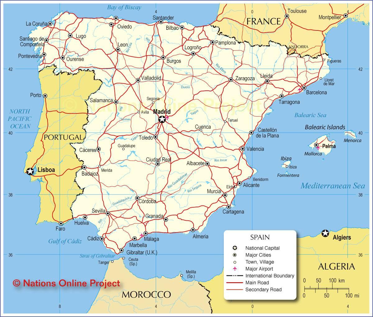 Carte Espagne Nord Est.Carte De L Espagne Decouvrrir L Espagne Sous Forme De Carte