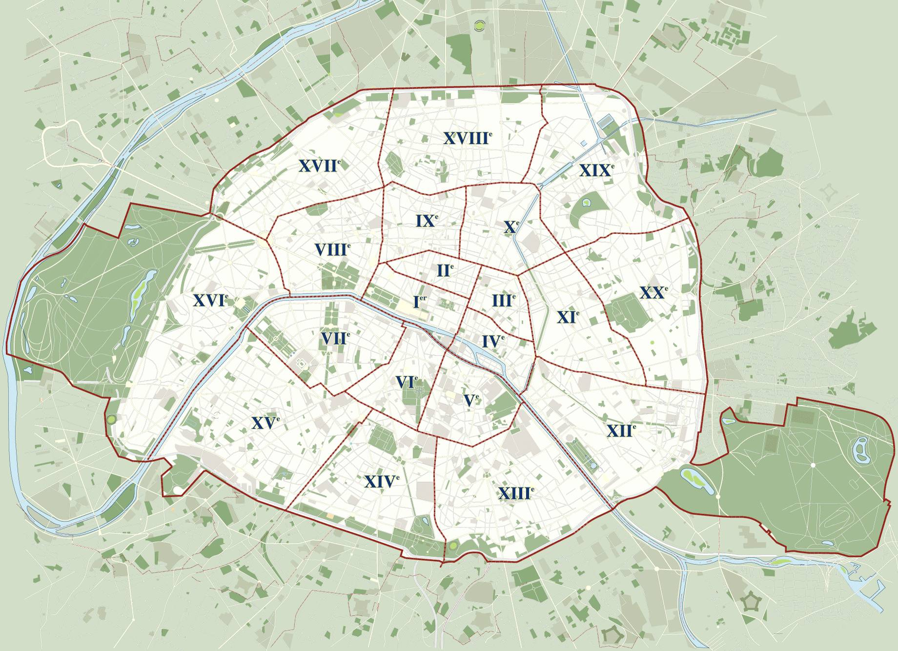 Carte de paris carte touristique et plan de paris for Appart hotel 5eme arrondissement paris