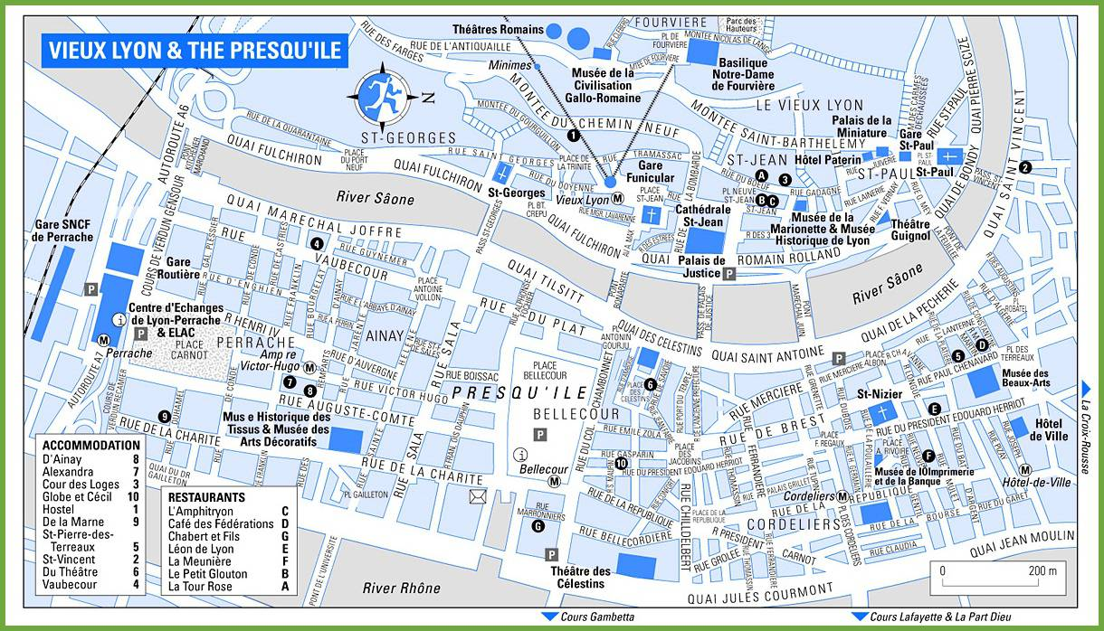 Carte de Lyon dans le Rhône   Carte et plan de la ville de Lyon