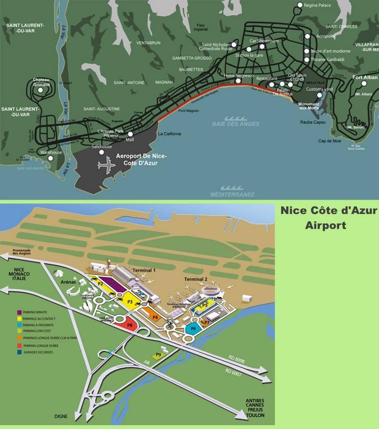Carte de l'Aéroport de Nice