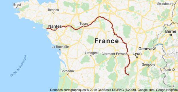 Carte de la Loire (fleuve) - Image, carte et présentation du fleuve