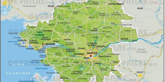 Carte de loire atlantique carte et plan du d partement - Chambre des notaires loire atlantique ...