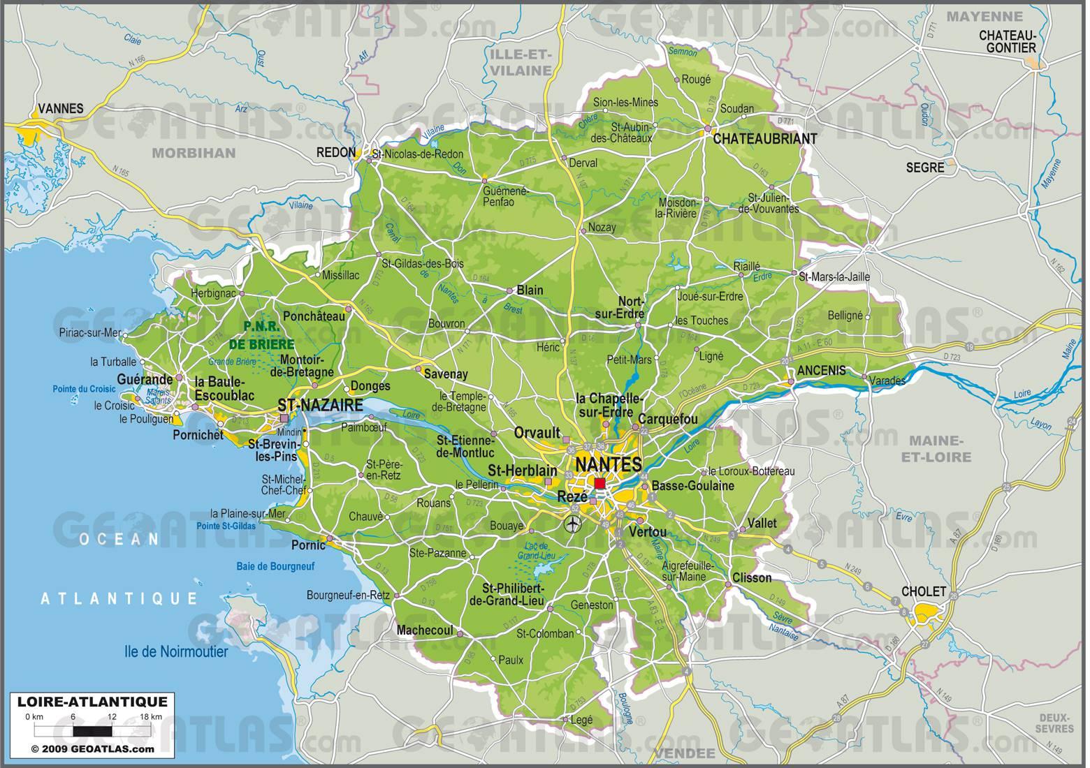 Carte de Loire-Atlantique