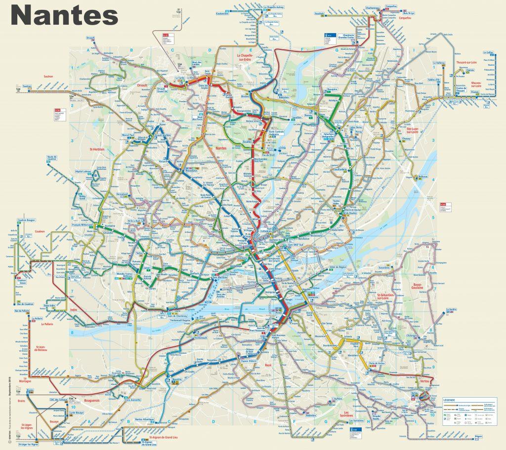 Carte des transports à Nantes - Plan de Nantes