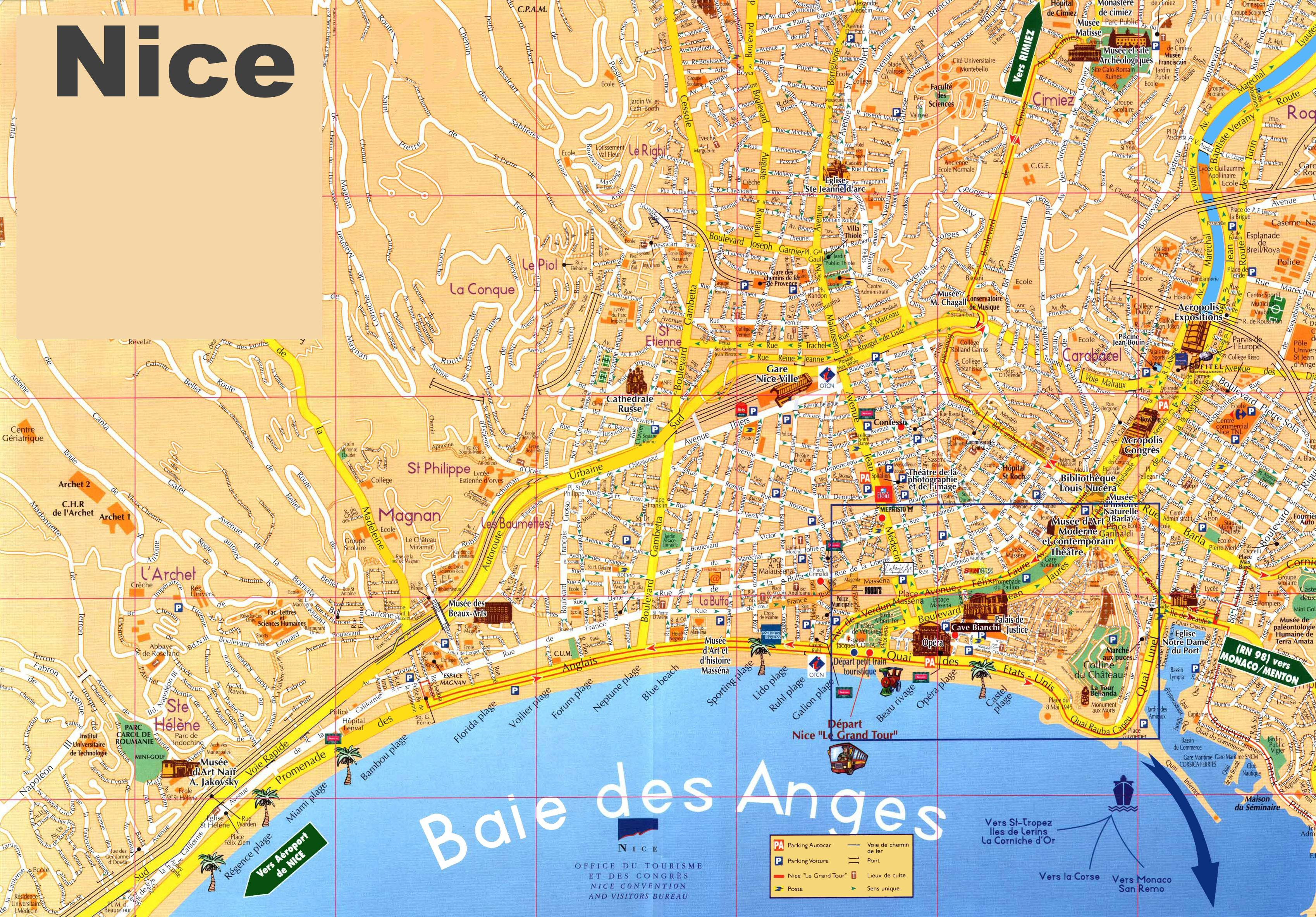 Carte de Nice