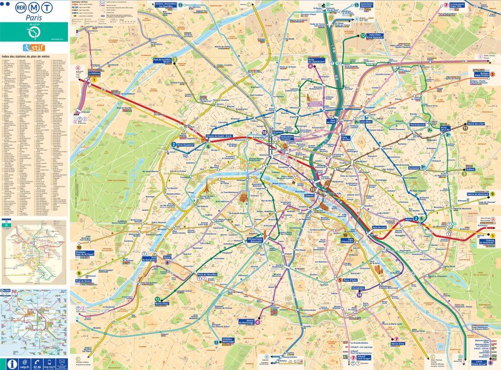 Carte de Paris complète