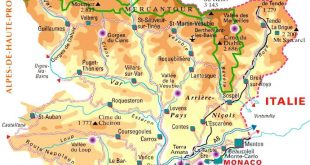 Carte des Alpes-Maritimes