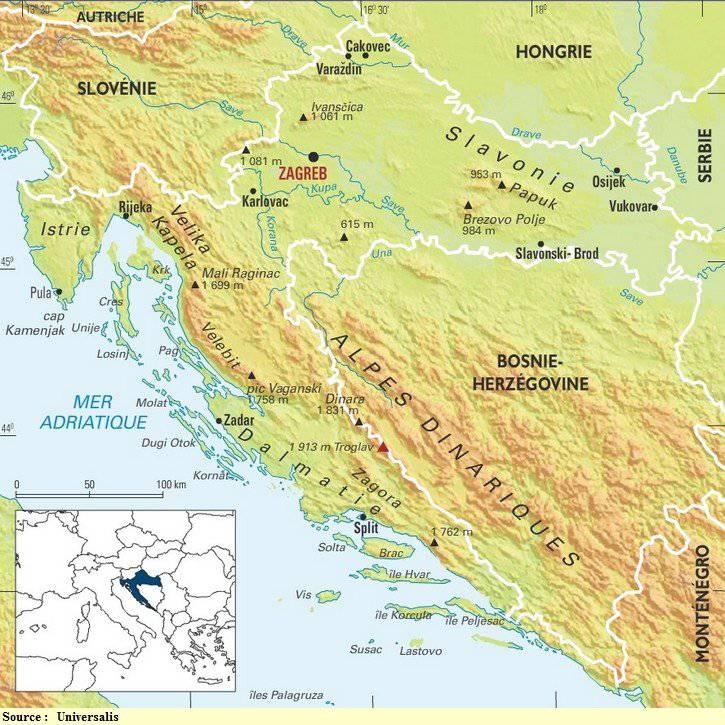 Cart des sommets en Croatie