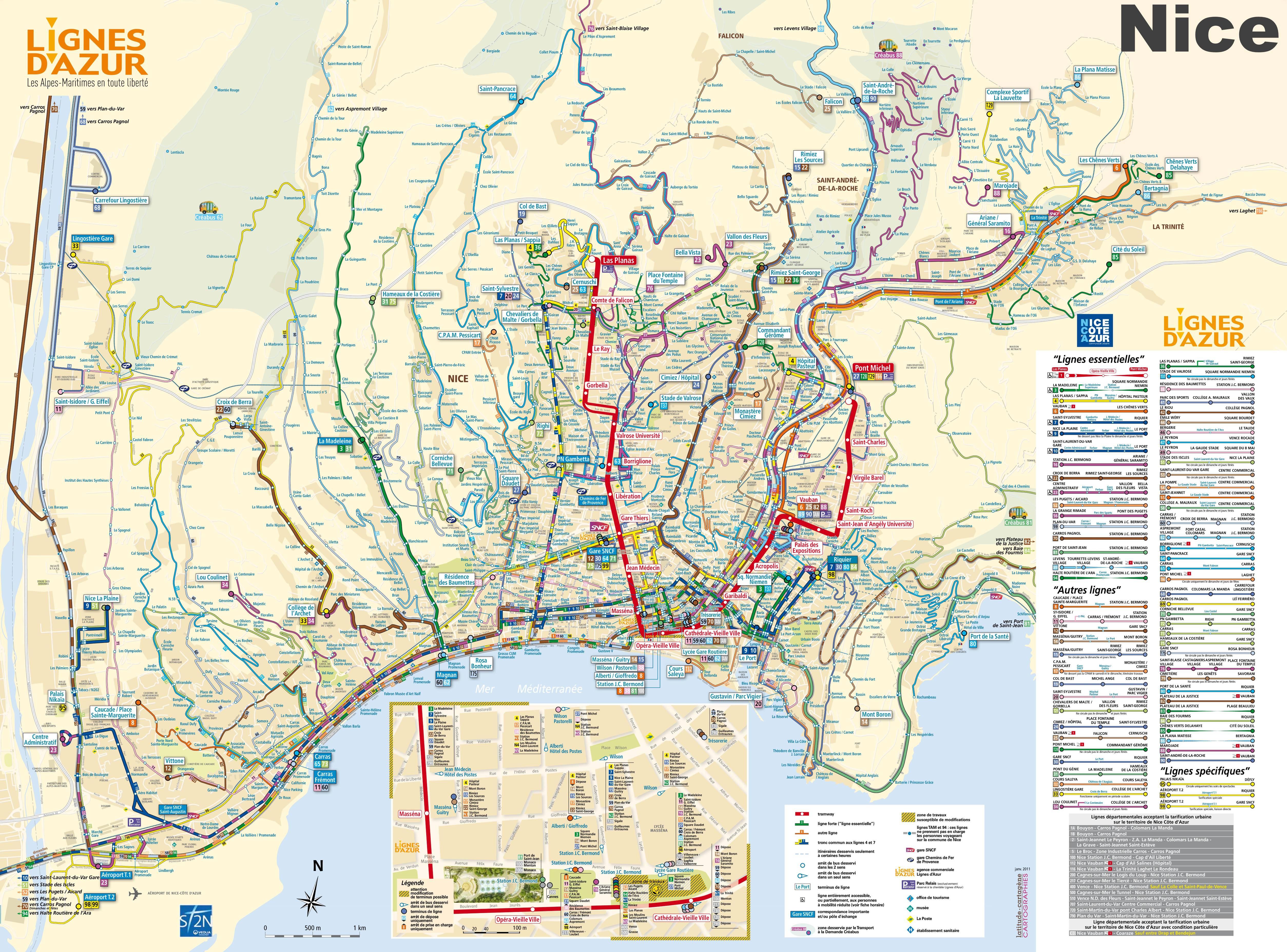 Carte Des Transports De Nice