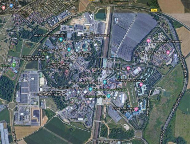 Carte de Disneyland