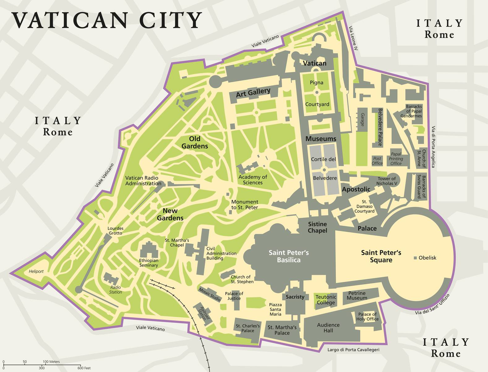 Plan du vatican carte de la cit du vatican plan for Faites vos propres plans gratuitement