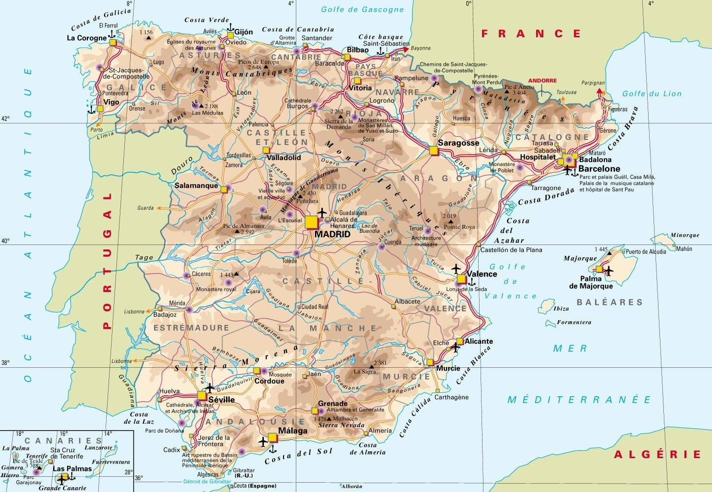 Photo of Carte de l'Espagne