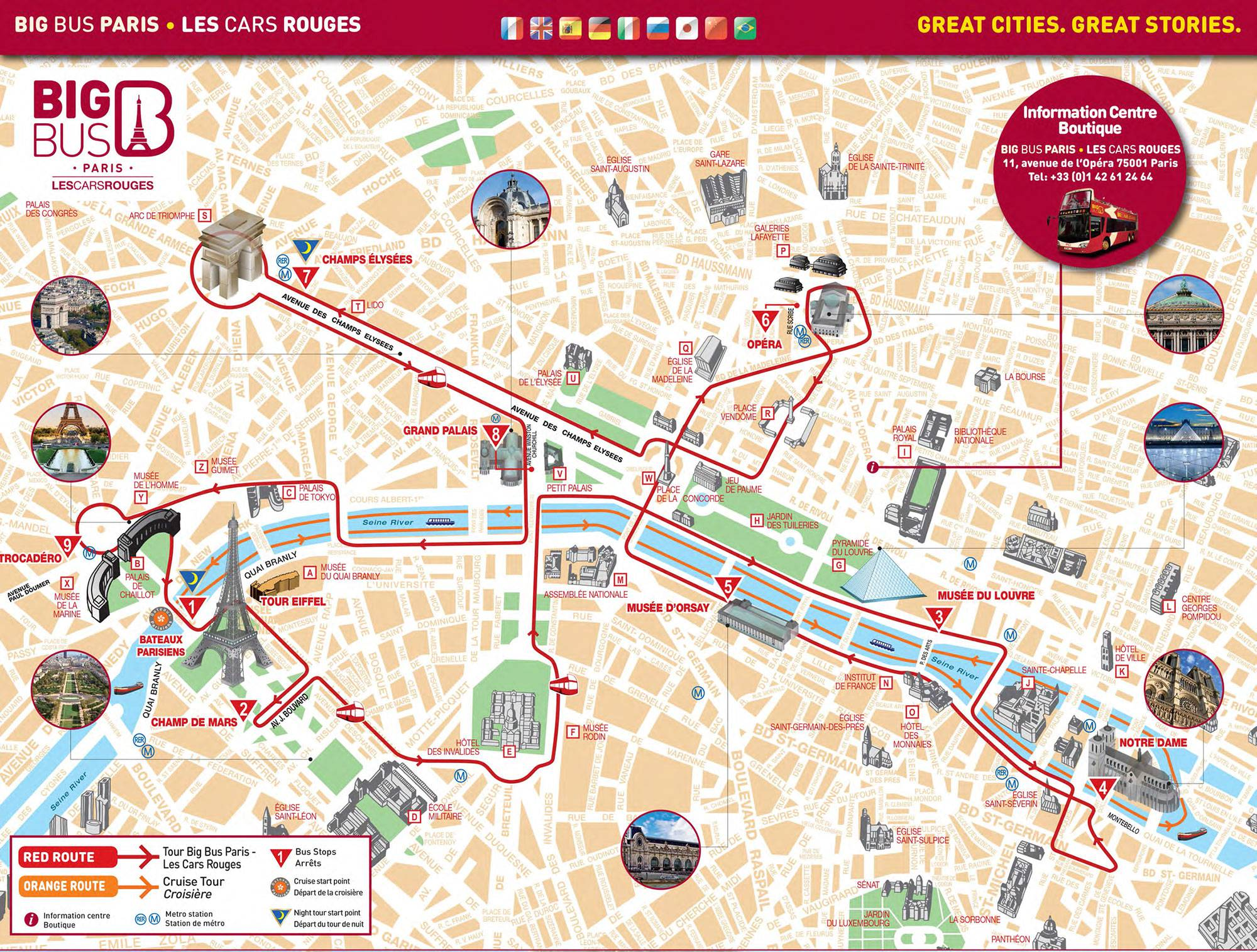 Carte des monuments de Paris