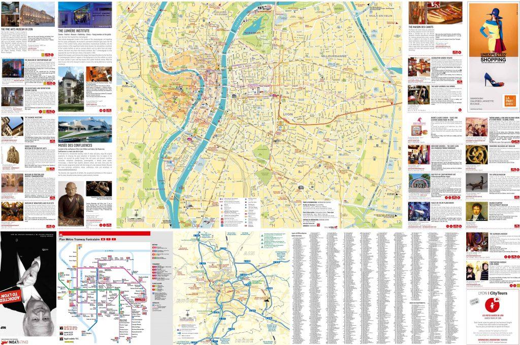 Carte touristique de Lyon