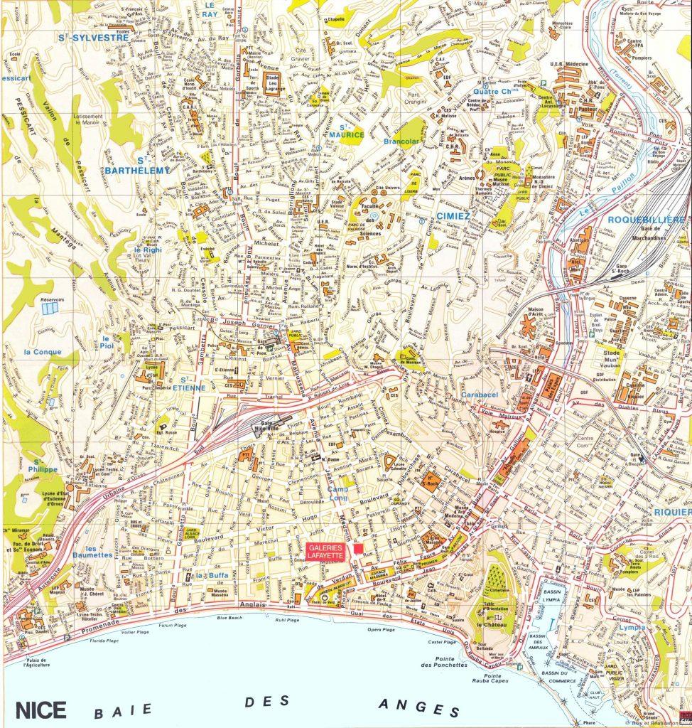 Carte touristique de Nice