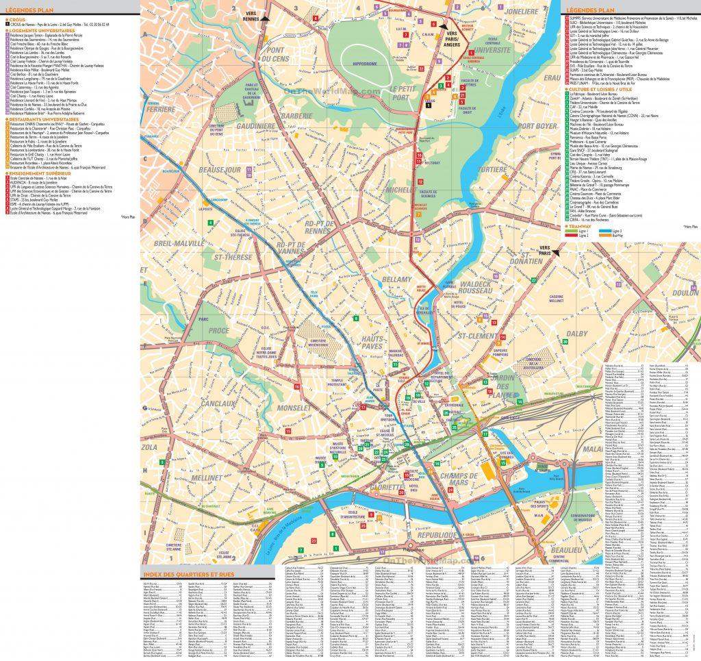 Carte touristique de Nantes