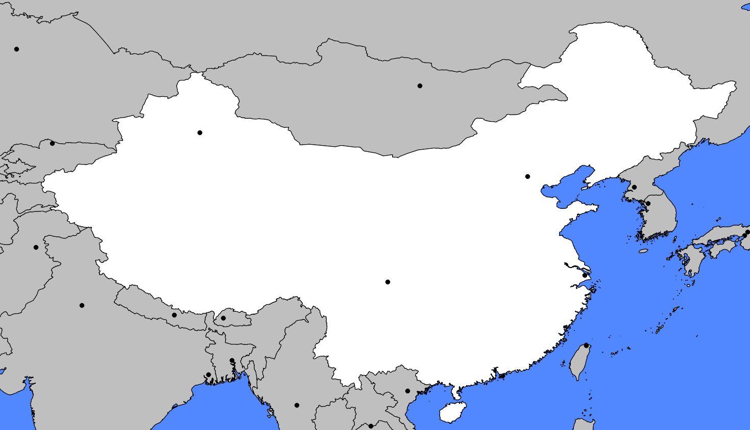Carte de la Chine - Relief, villes, carte administrative et politique de la Chine