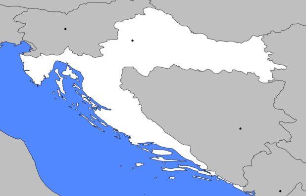Carte vierge Croatie