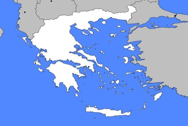 Carte vierge de la Grèce