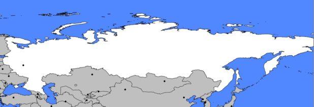 Carte vierge de la Russie