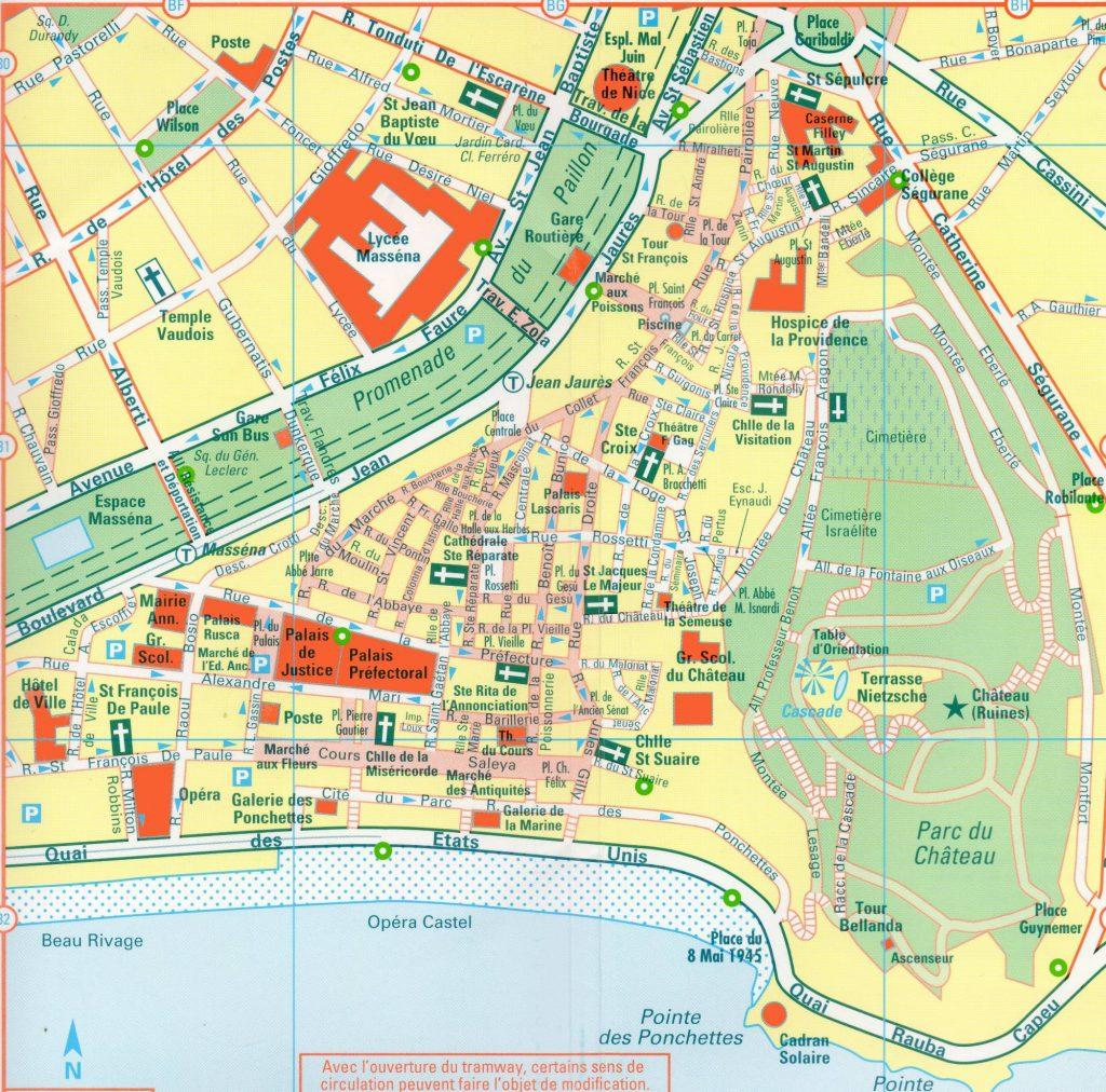 Carte du vieux Nice
