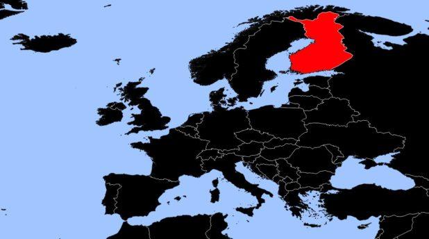 Finlande sur une carte d'Europe