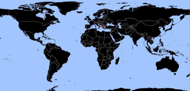 Grèce sur une carte du monde