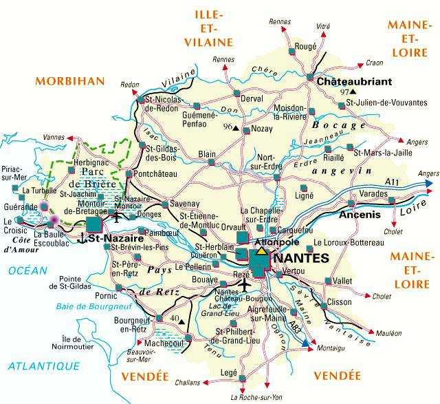 Loire-Atlantique carte