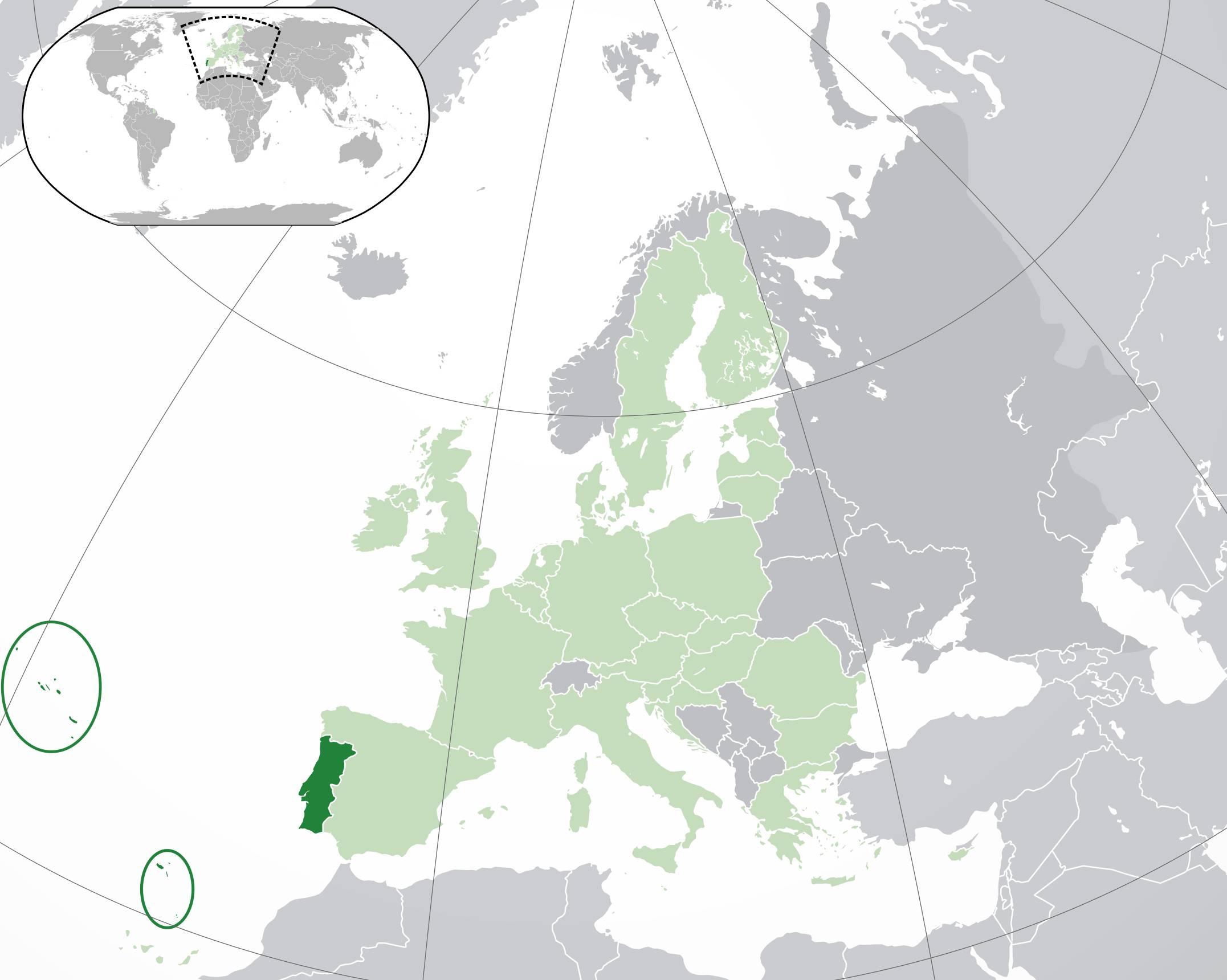Où se trouve le Portugal ?