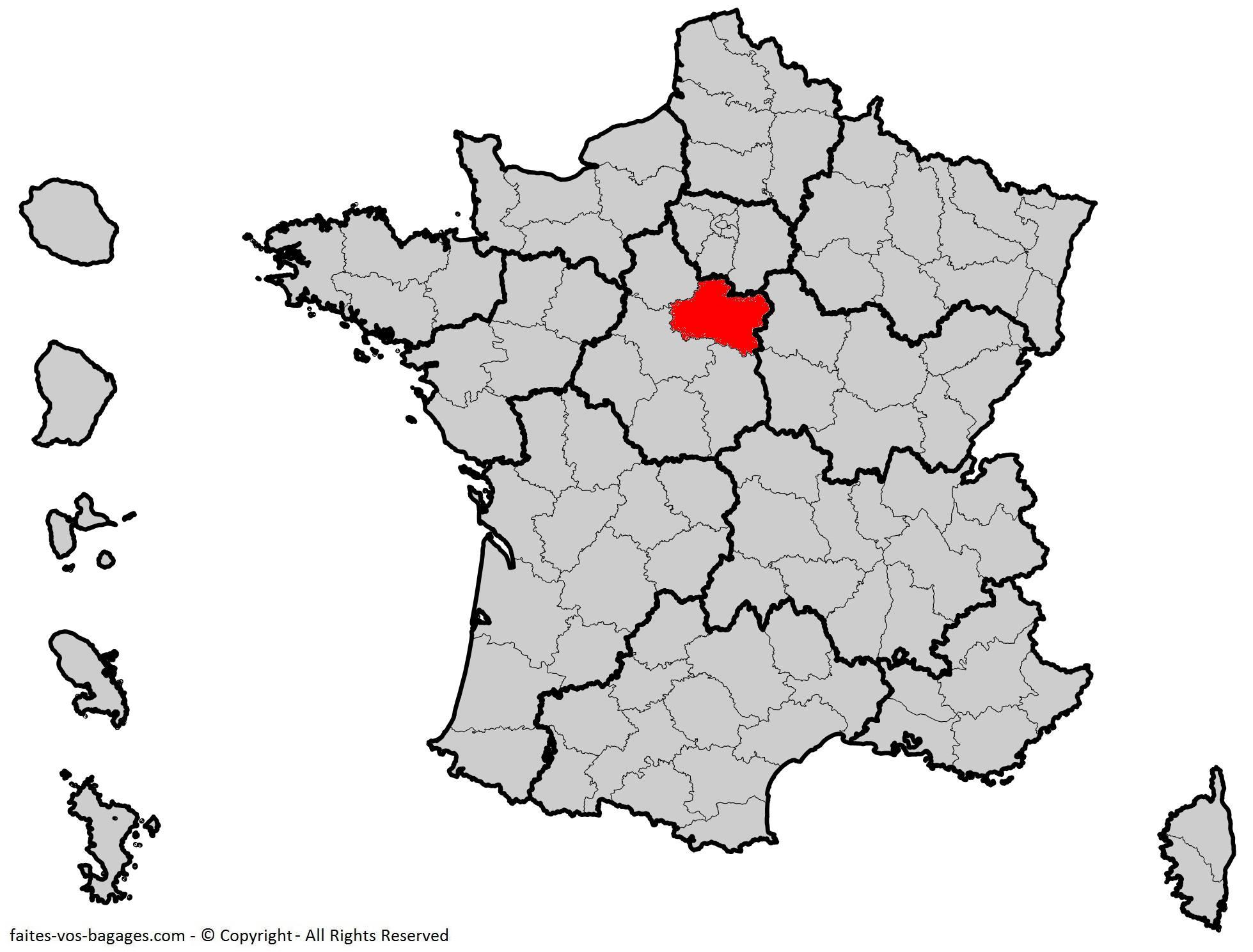 Où se trouve le Loiret ? Département 45