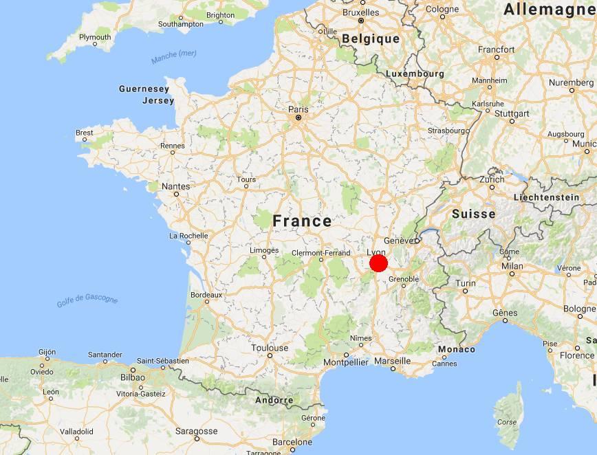 Où se trouve Lyon en France ?