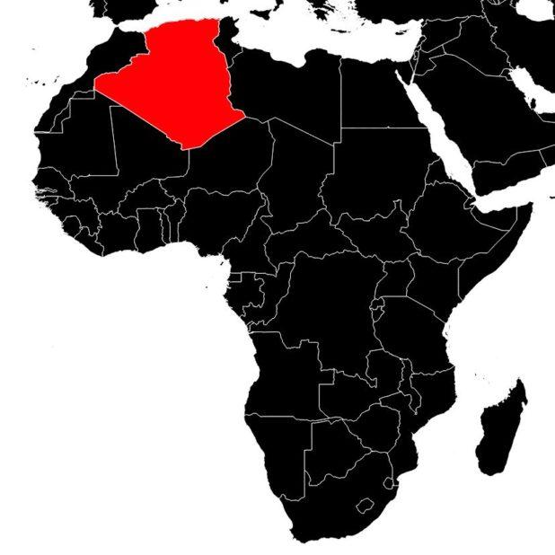 Algérie sur une carte de l'Afrique