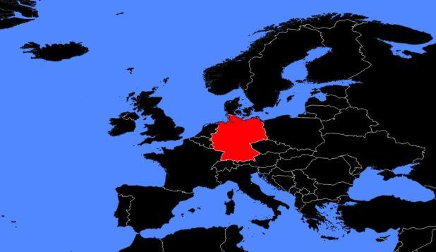 Allemagne sur une carte d'Europe