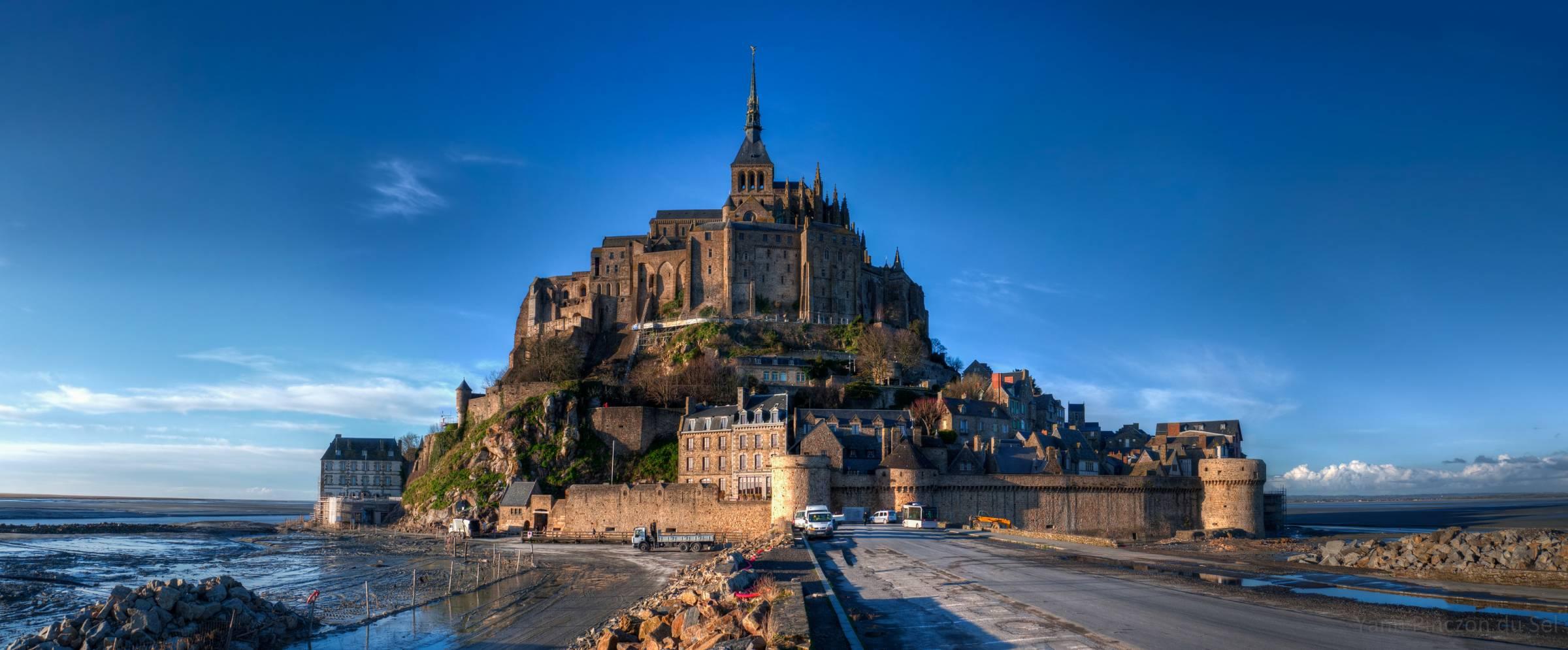 Anicenne route vers le Mont-Saint-Michel
