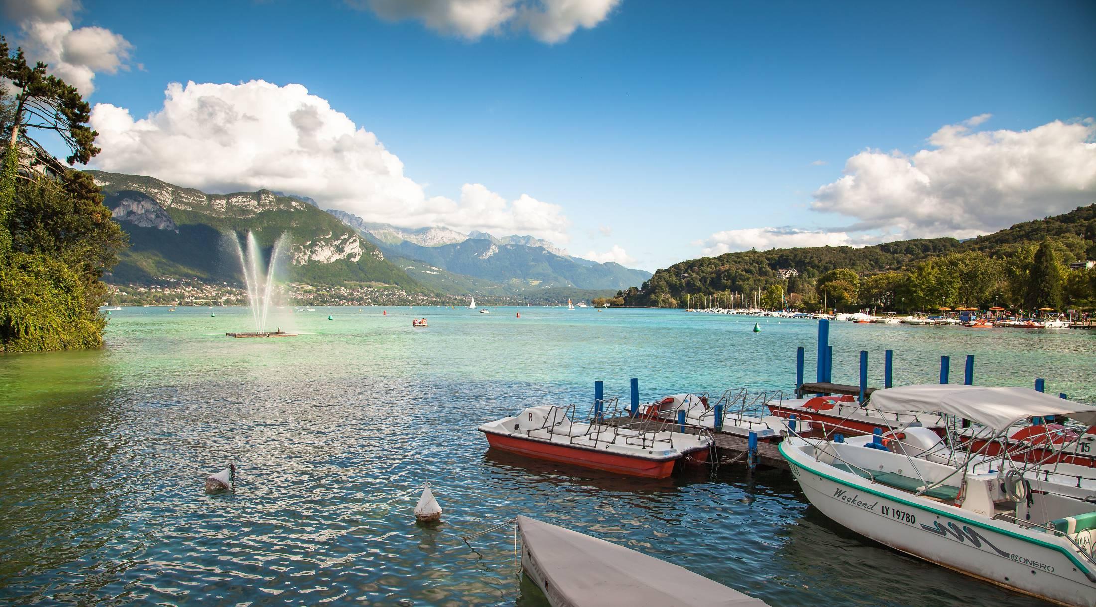 Balade sur le lac d'Annecy
