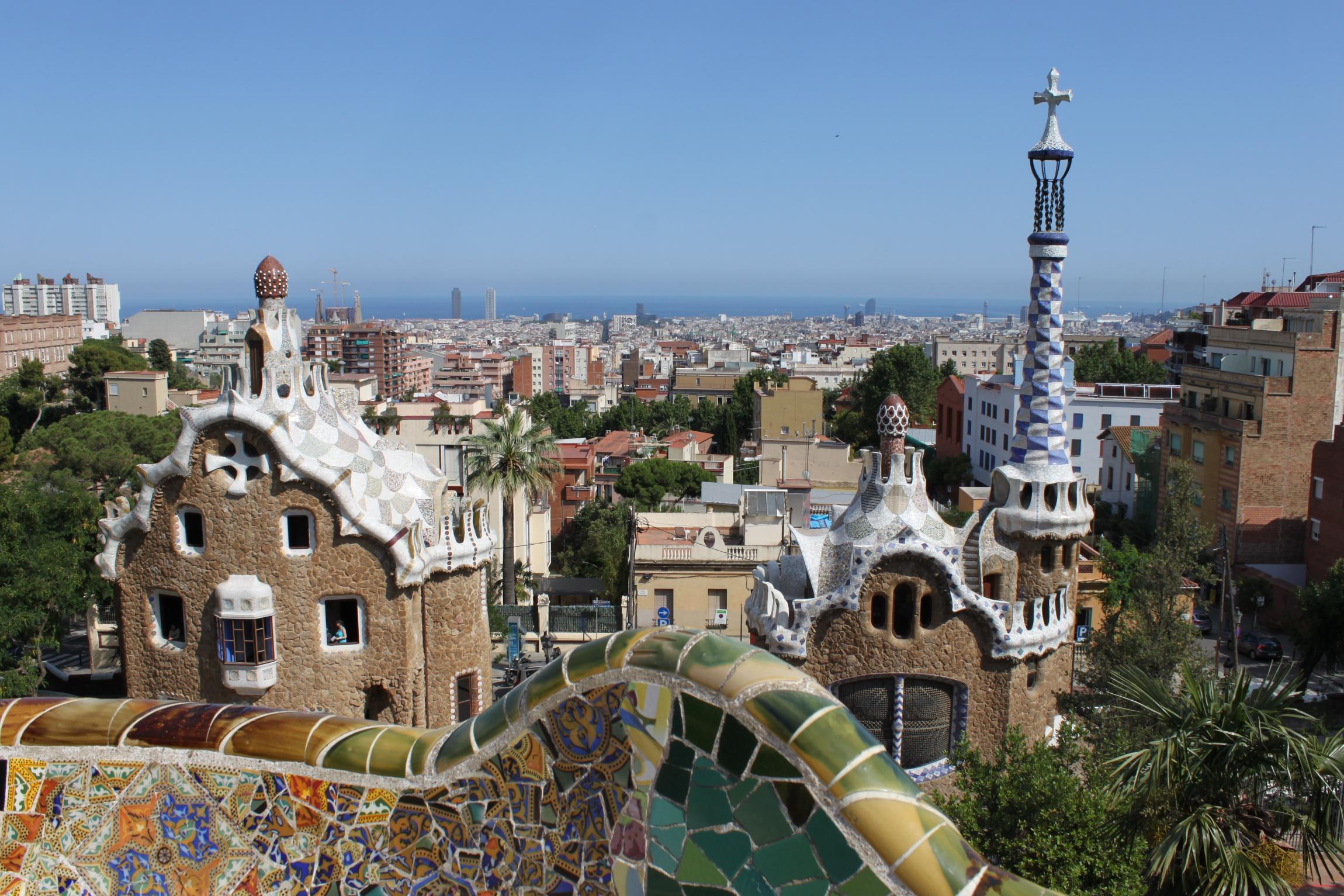 Barcelone en Espagne et le Parc Guell