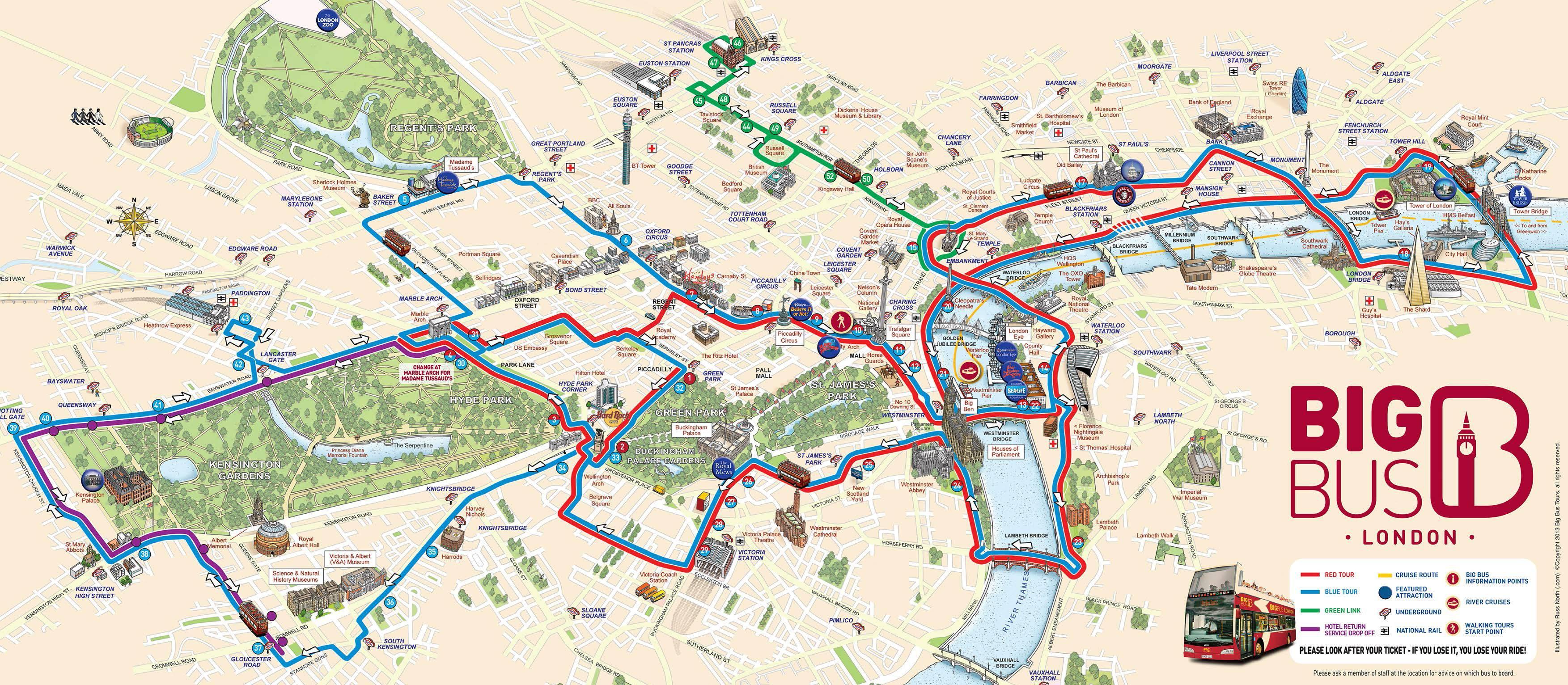 Carte de Londres - Touristique