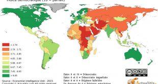 Carte des régimes politiques dans le monde