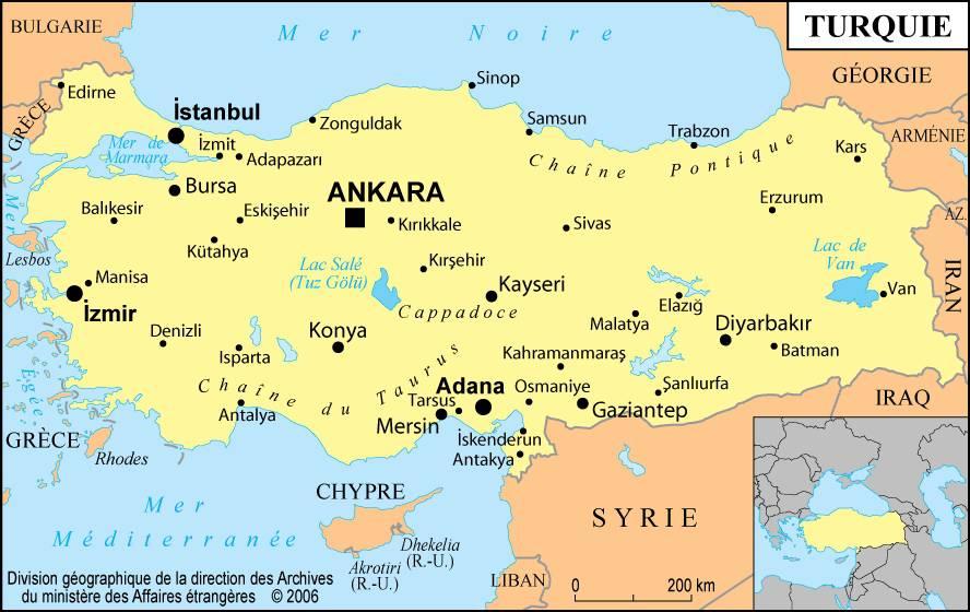 Turquie carte