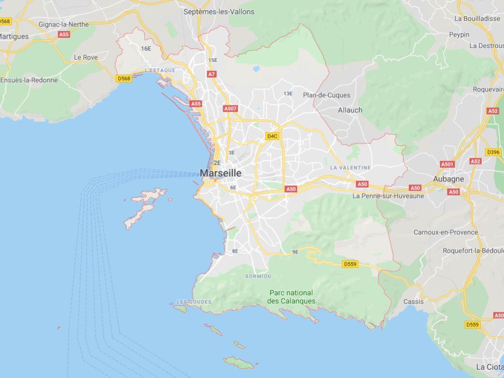 Marseille carte