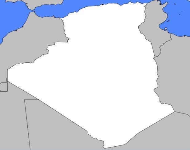 Carte vierge de l'Algérie