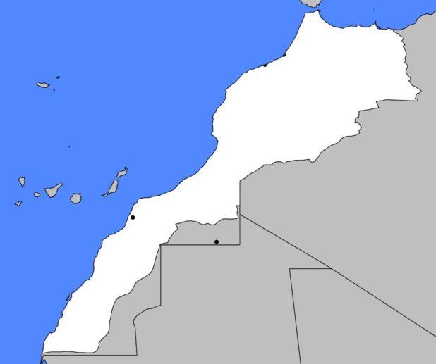 Carte vierge du Maroc