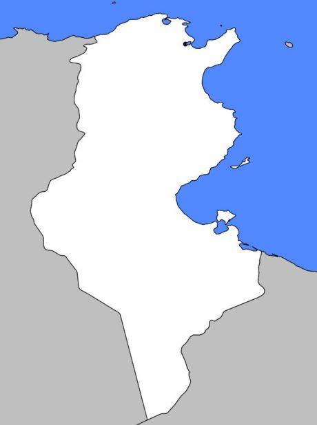 Carte vierge de la Tunisie