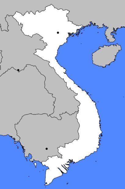 Carte vierge du Vietnam