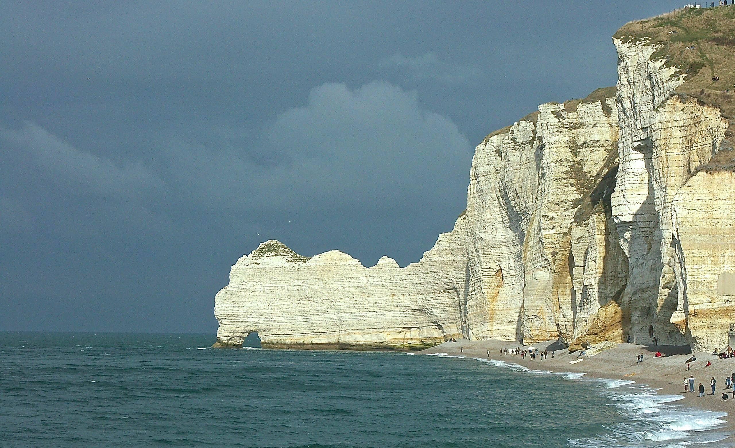 Les falaises à Etretat - Falaise d'Amont