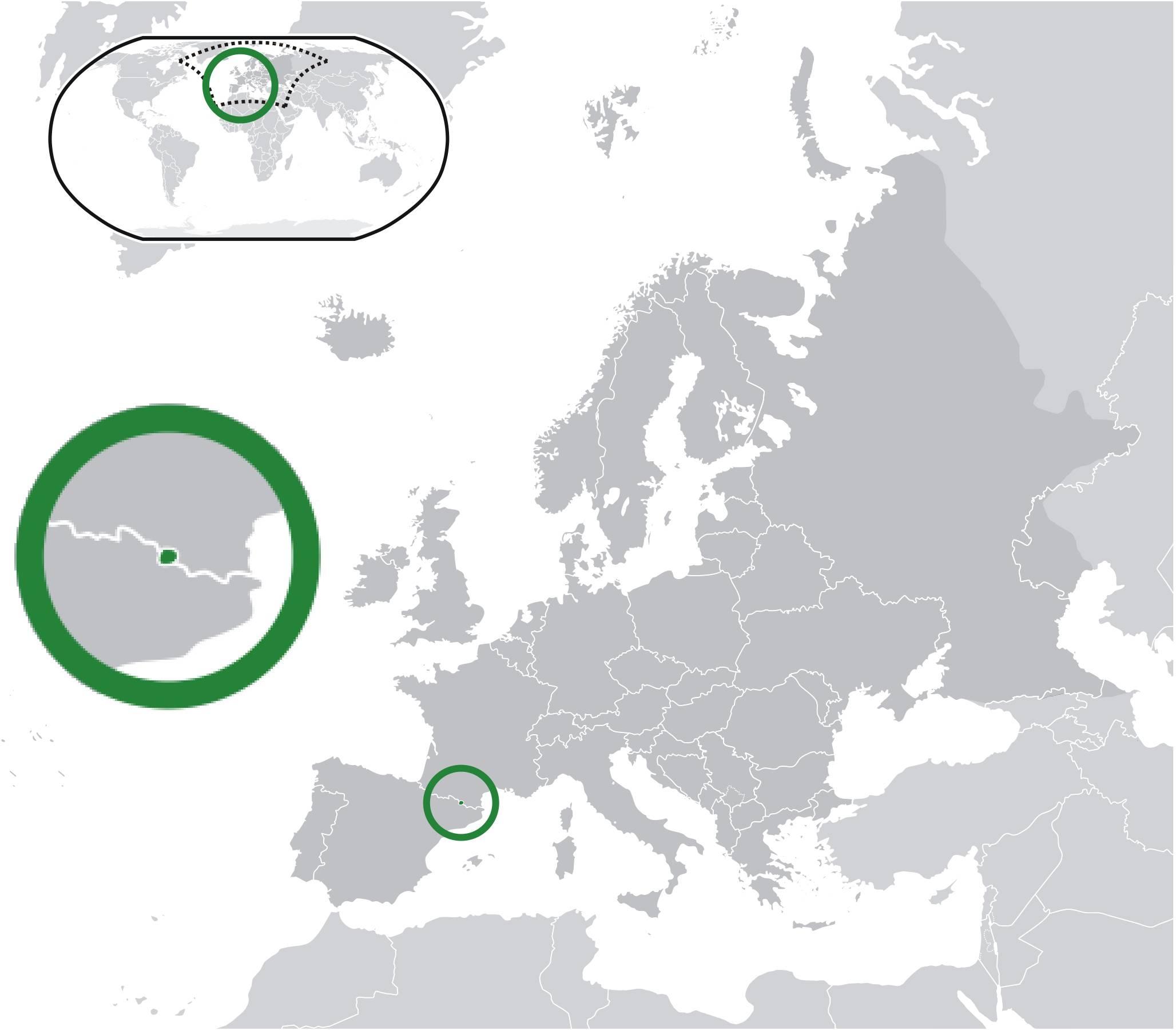 Où se trouve l'Andorre sur une carte ?