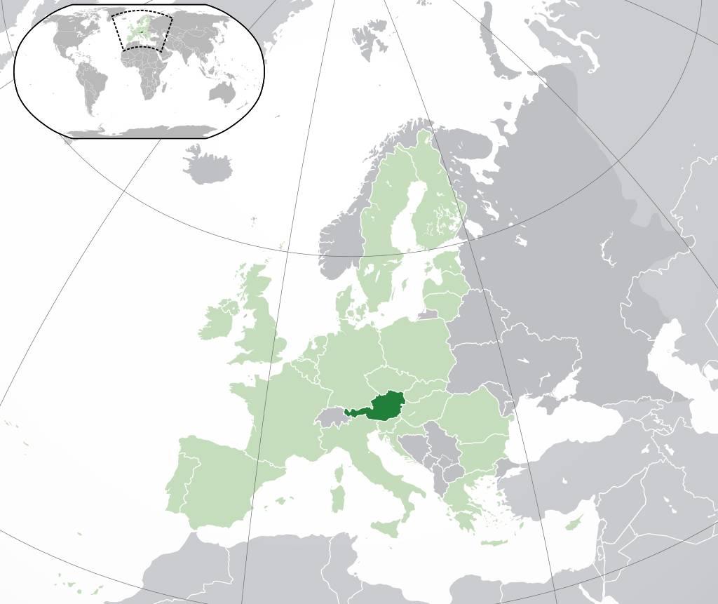 Où se trouve l'Autriche sur la carte de l'Europe