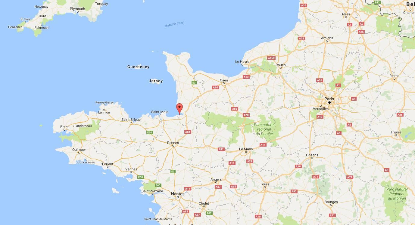 Où se trouve la baie du Mont-Saint-Michel